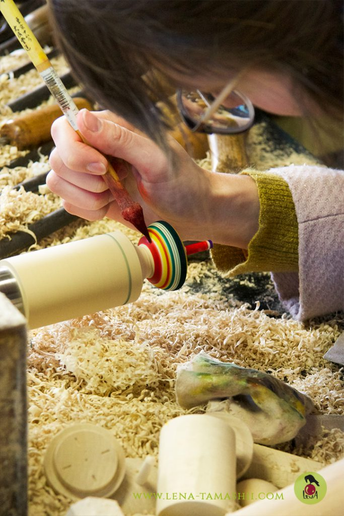 Kokeshi koma kreisel japanische handwerkskunst Japanese craftsmanship akiu sendai miyagi