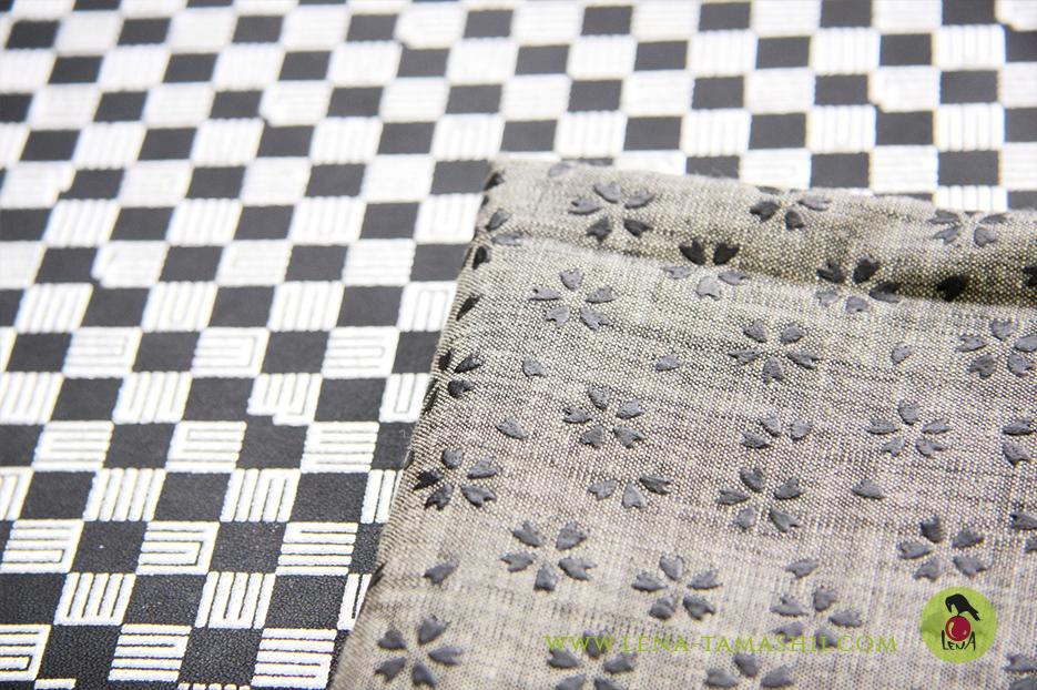 Urushi mit Siebdruck auf Stoff gedruckt