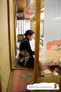 Tegaki yuzen kyoto kimono traditional