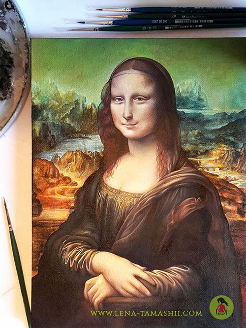 Mona Lisa copy Kopie malen paint acrylic acryl
